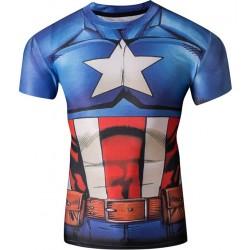 Компрессионная футболка Captain America